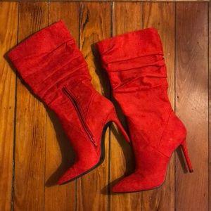 JESSICA SIMPSON Stiletto slouch calf boots